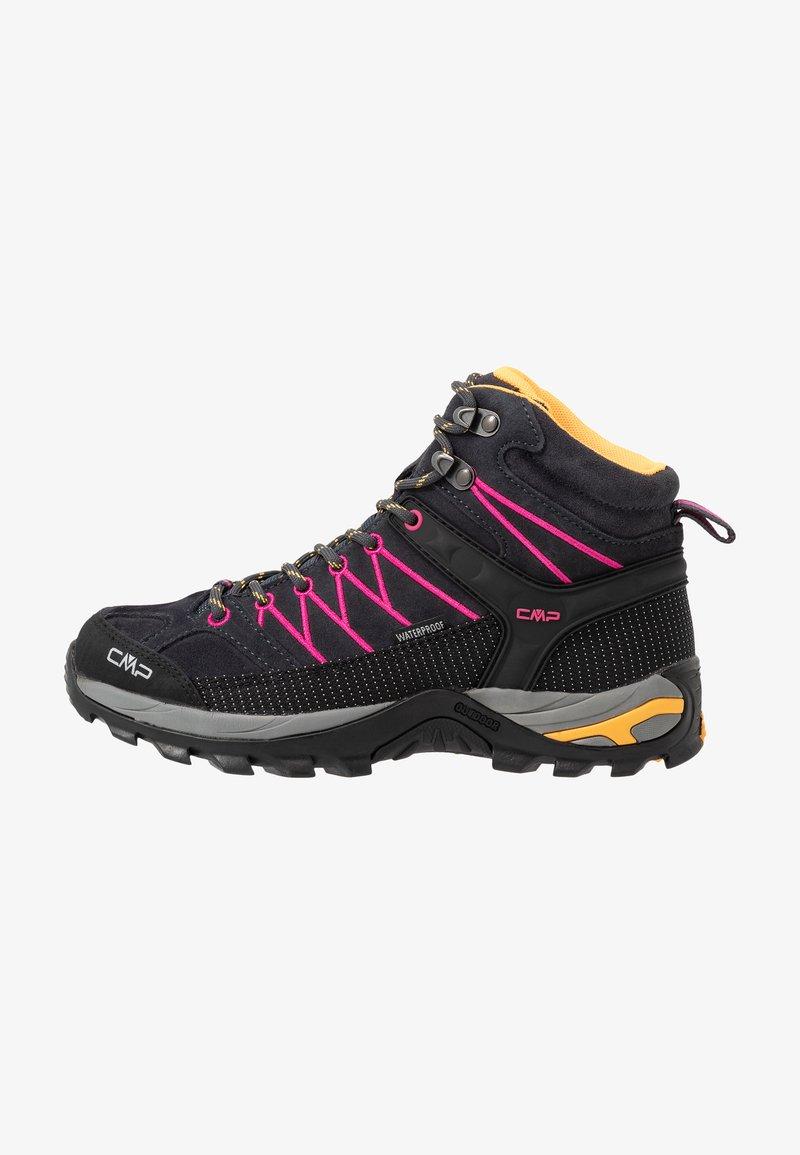 CMP - RIGEL MID TREKKING SHOE WP - Hiking shoes - antracite/bounganville