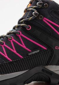 CMP - RIGEL MID TREKKING SHOE WP - Hiking shoes - antracite/bounganville - 5