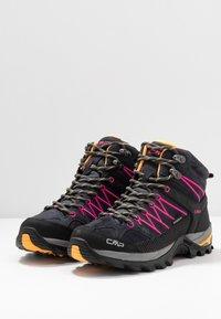 CMP - RIGEL MID TREKKING SHOE WP - Hiking shoes - antracite/bounganville - 2
