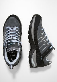CMP - RIGEL LOW TREKKING SHOES WP - Hiking shoes - graffite/azzurro - 1