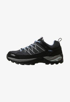 RIGEL LOW TREKKING SHOES WP - Hiking shoes - graffite/azzurro