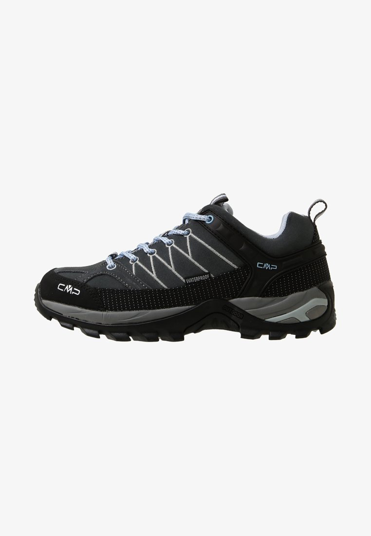 CMP - RIGEL LOW TREKKING SHOES WP - Hiking shoes - graffite/azzurro