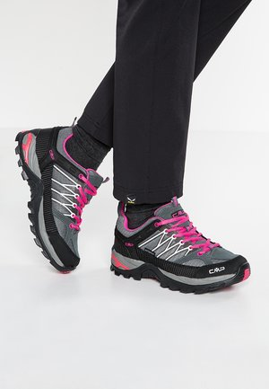 RIGEL - Hiking shoes - grey/fuxia/ice
