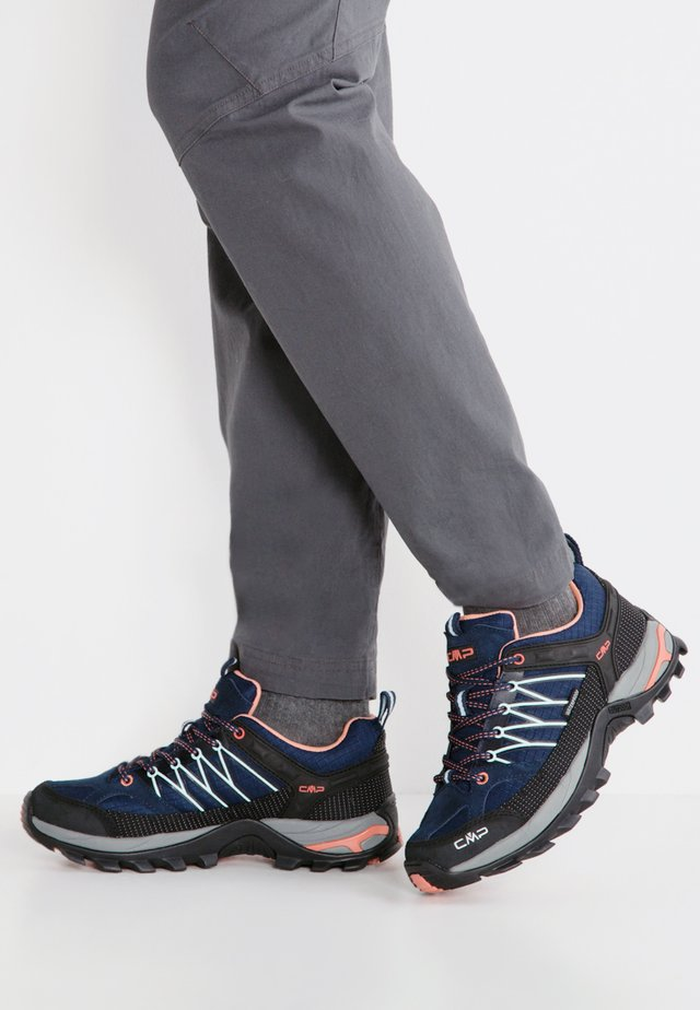 RIGEL - Hiking shoes - blue/giada/peach