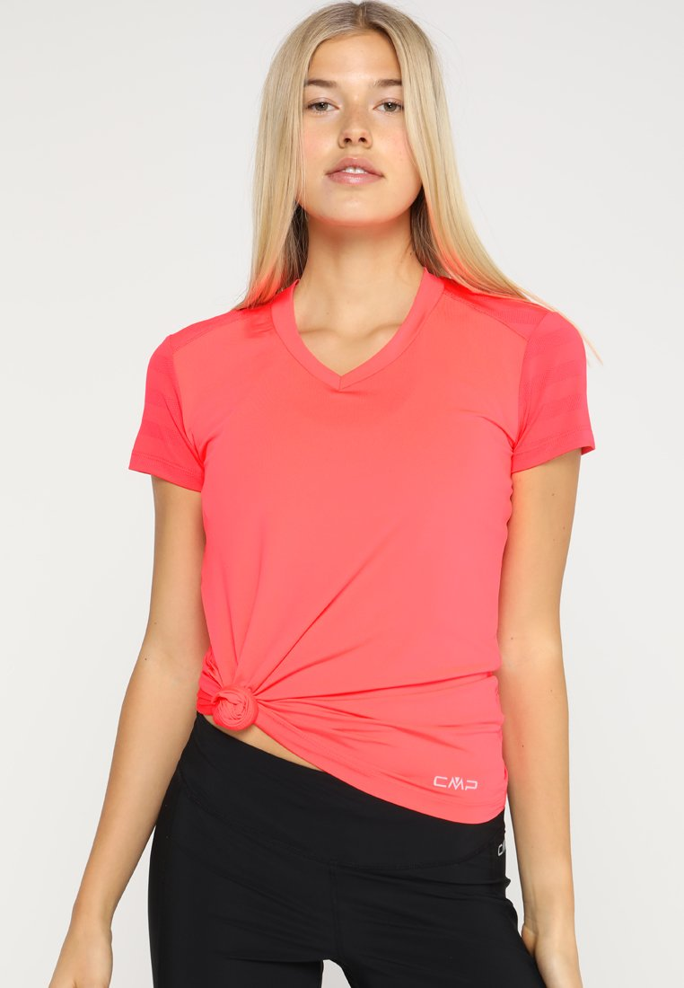 CMP - Print T-shirt - red fluo