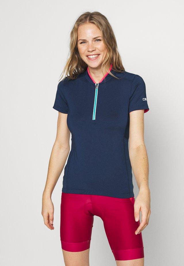 WOMAN BIKE - T-shirt z nadrukiem - blue