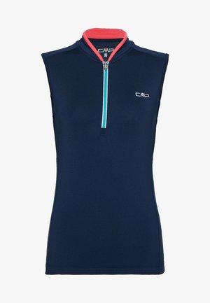 WOMAN BIKE SLEEVELESS - T-shirt sportiva - blue