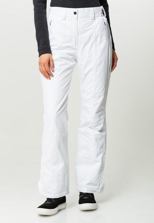 WOMAN SKI PANT - Pantaloni da neve - bianco