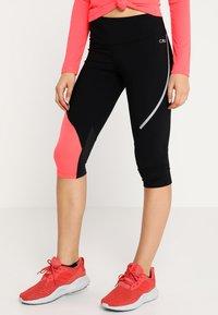 CMP - WOMAN PANT  - Collant - nero/red fluor - 0