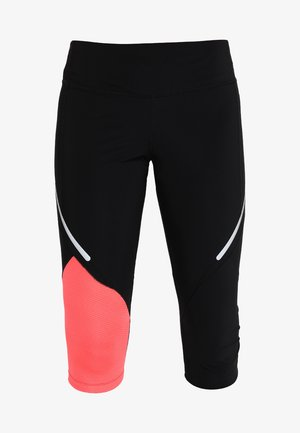 WOMAN PANT  - Tights - nero/red fluor