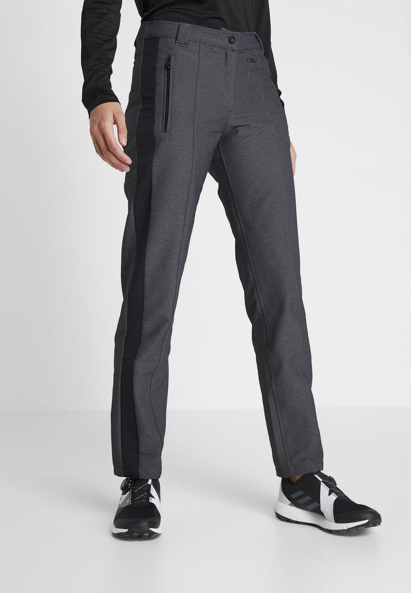 CMP - WOMAN LONG PANT - Outdoorové kalhoty - antracite melange