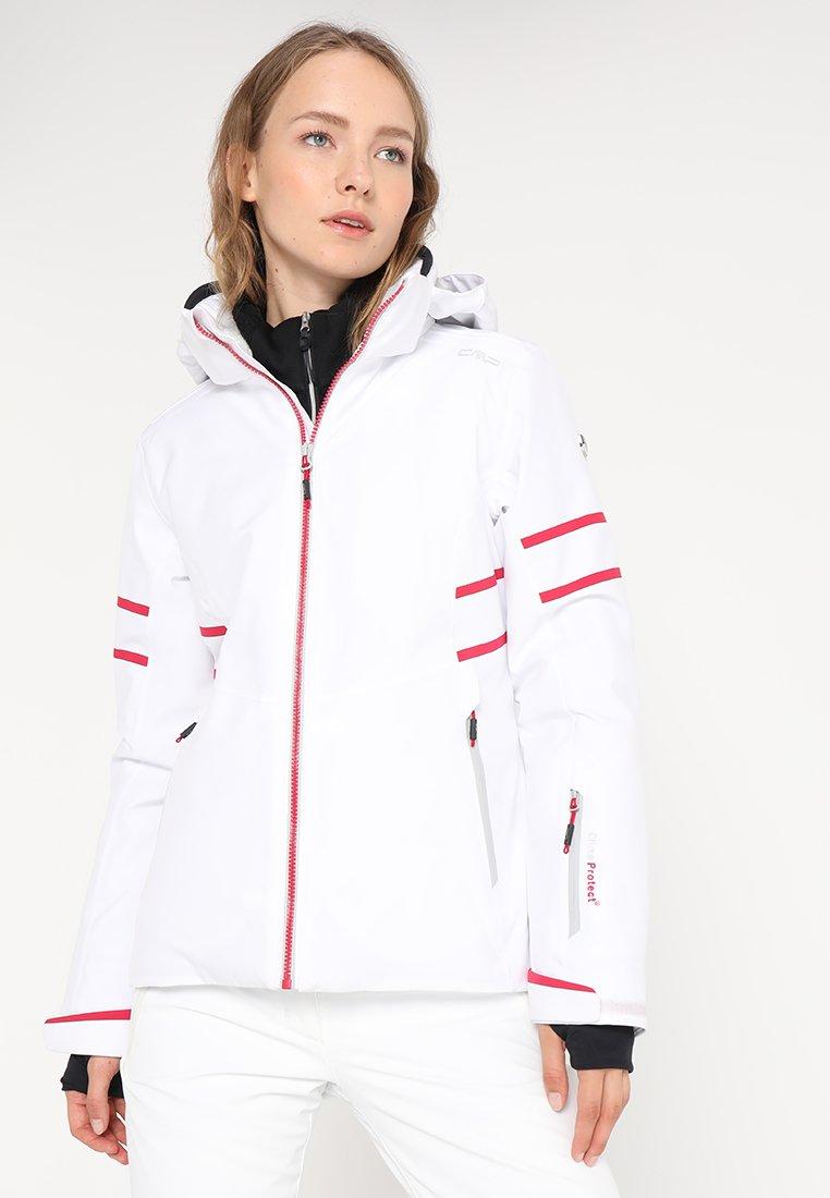 CMP - WOMAN JACKET ZIP HOOD - Skijakker - bianco