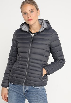 WOMAN JACKET ZIP HOOD - Giacca invernale - antracite/grey