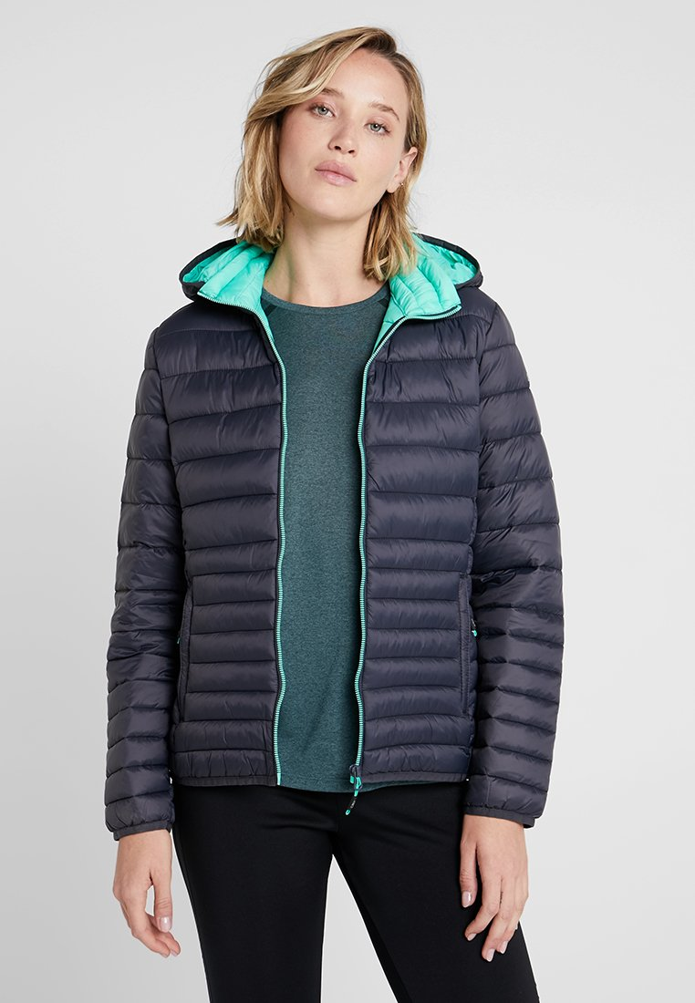 CMP - WOMAN JACKET ZIP HOOD - Zimní bunda - antracite/aquamint