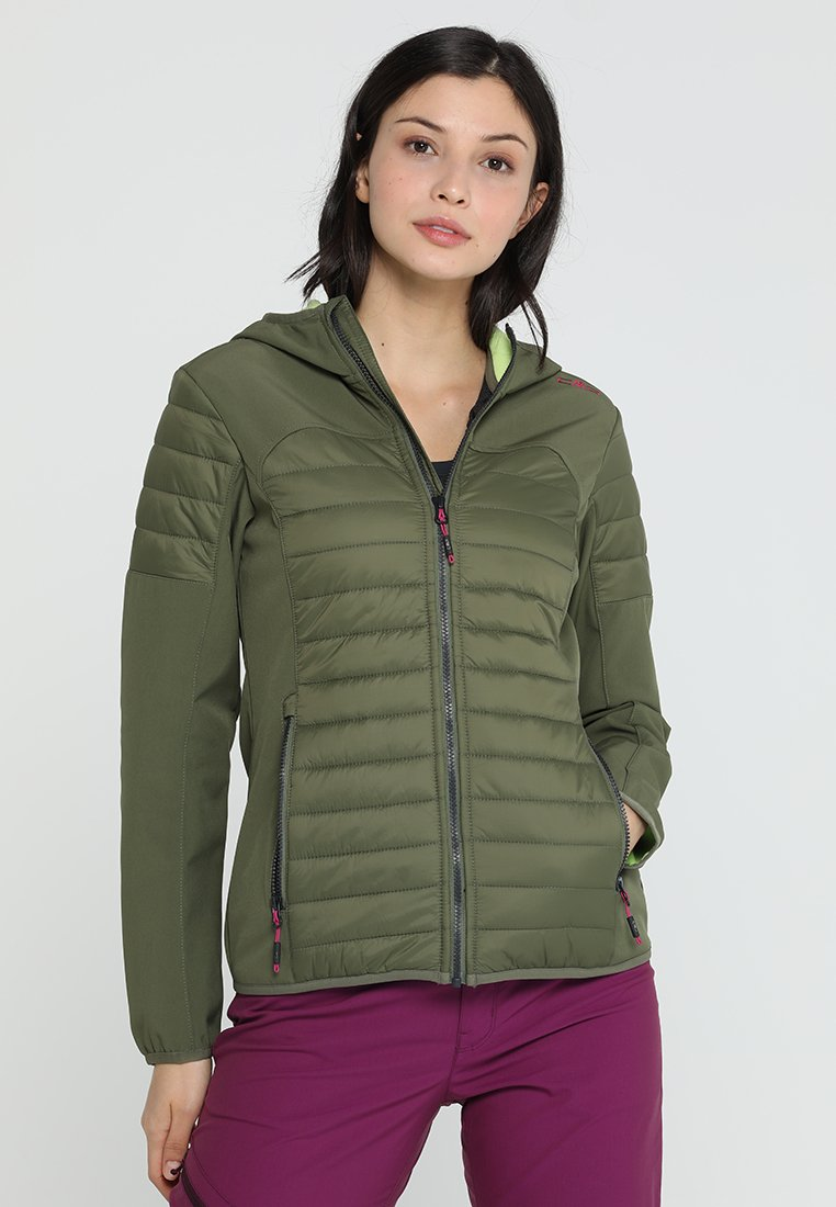 CMP - WOMAN JACKET FIX HOOD - Softshellová bunda - olive