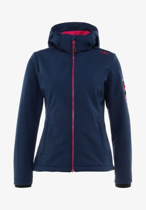 WOMAN JACKET ZIP HOOD - Softshelljakke - marine