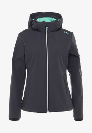 WOMAN JACKET ZIP HOOD - Softshelljas - antracite
