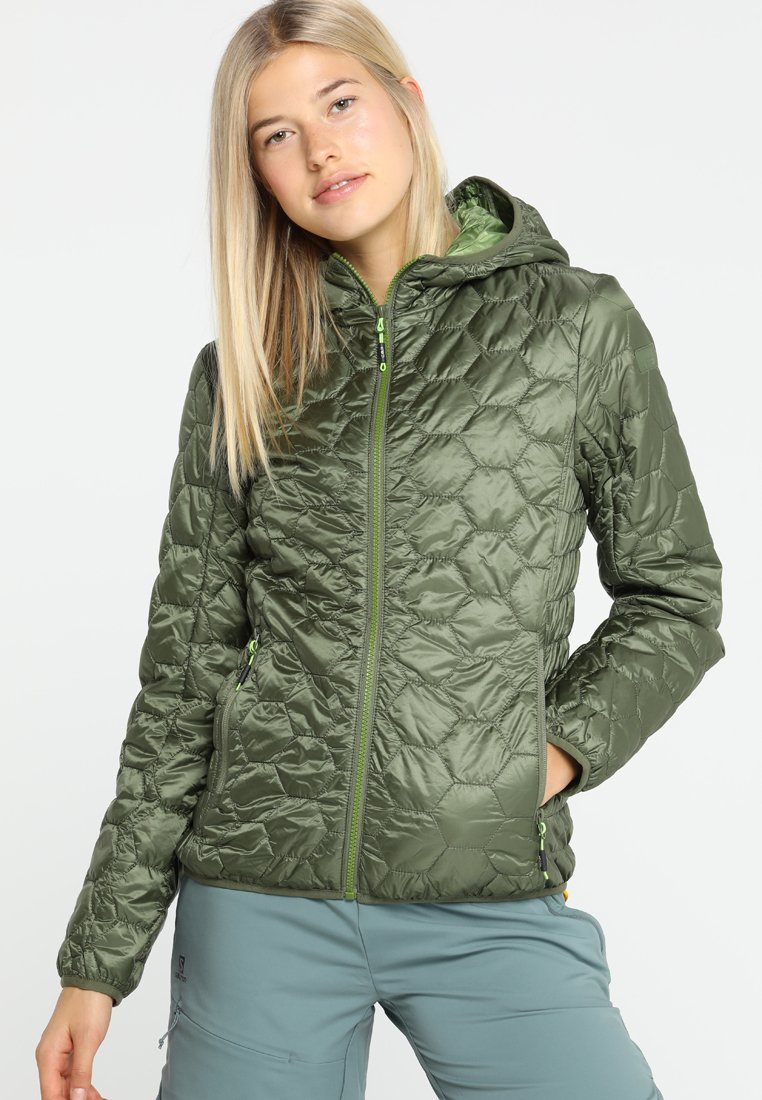 CMP - WOMAN JACKET FIX HOOD - Giacca outdoor - olive