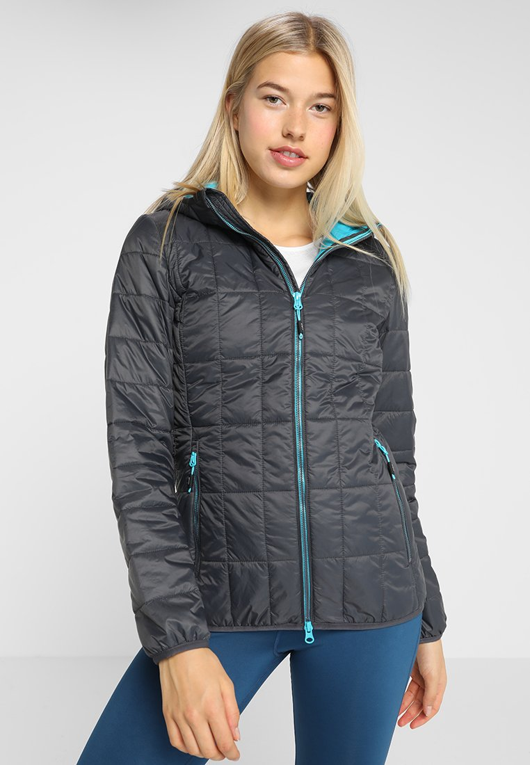 CMP - WOMAN JACKET FIX HOOD - Outdoor jakke - antracite