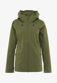 CMP - WOMAN JACKET FIX HOOD - Hardshellová bunda - olive