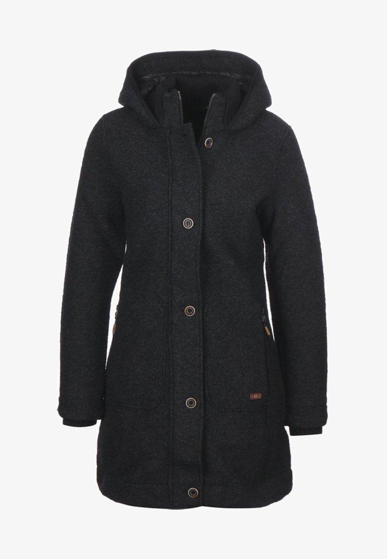 CMP - WOMAN COAT FIX HOOD - Fleece jacket - black