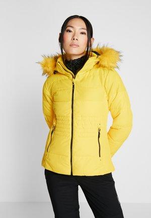 WOMAN JACKET ZIP HOOD - Skijakke - yellow