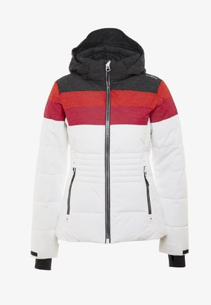 WOMAN JACKET ZIP HOOD - Ski jacket - white