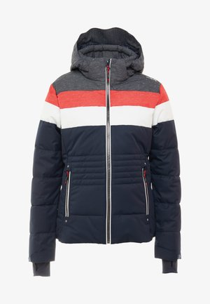 WOMAN JACKET ZIP HOOD - Skijakke - black/blue