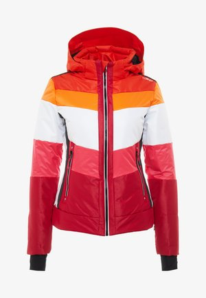 WOMAN JACKET ZIP HOOD - Ski jas - granita