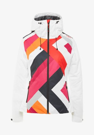 WOMAN JACKET FIX HOOD - Skijakke - bianco