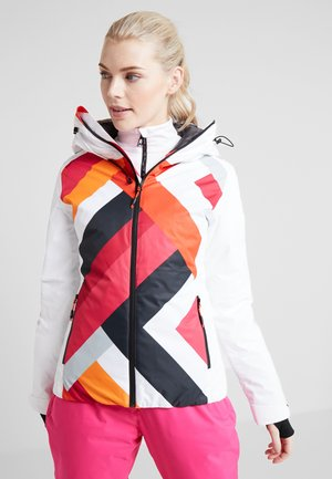 WOMAN JACKET FIX HOOD - Kurtka narciarska - bianco