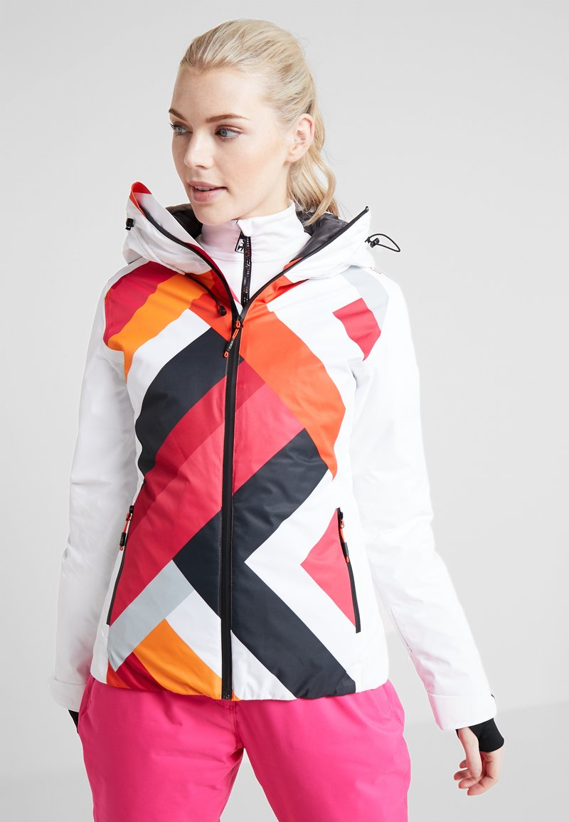 CMP - WOMAN JACKET FIX HOOD - Skijakke - bianco