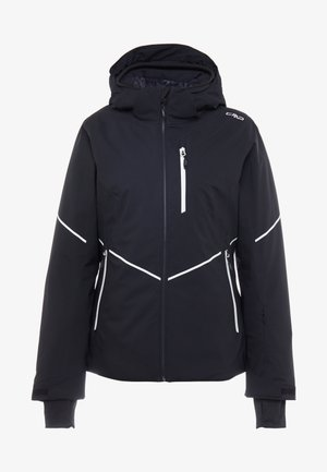WOMAN JACKET ZIP HOOD - Skijakker - nero