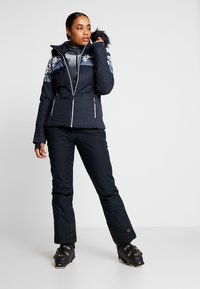 CMP - WOMAN JACKET FIX HOOD - Skijakke - black blue - 1
