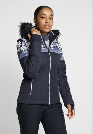 WOMAN JACKET FIX HOOD - Skidjacka - black blue