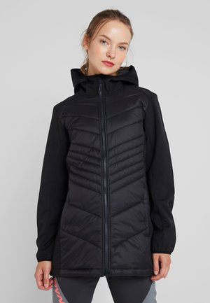 WOMAN COAT FIX HOOD - Softshellová bunda - nero
