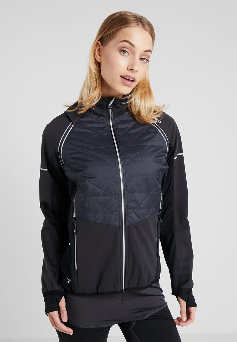 CMP - WOMAN JACKET WITH DETACHABLE SLEEVES - Regnjakke / vandafvisende jakker - antracite