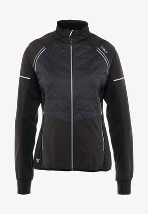 WOMAN JACKET WITH DETACHABLE SLEEVES - Regnjakke - antracite