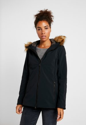WOMAN MID JACKET FIX HOOD - Softshelljacka - nero