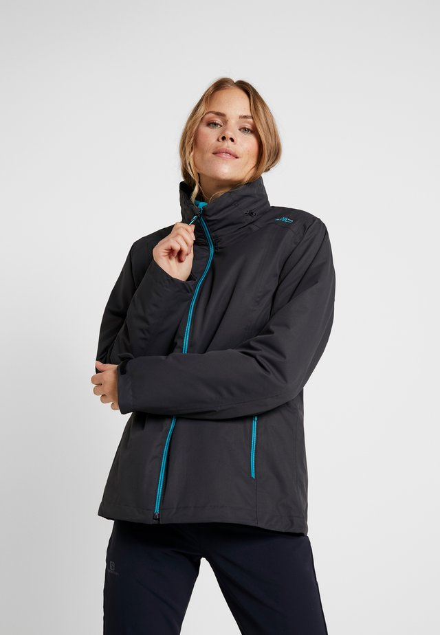 WOMAN JACKET ZIP HOOD DETACHBLE JACKET - Outdoor jacket - antracite