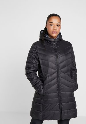WOMAN COAT ZIP HOOD - Vinterkåpe / -frakk - nero