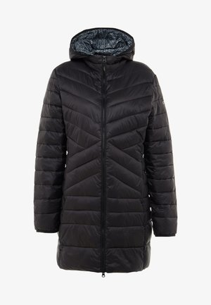 WOMAN COAT ZIP HOOD - Winter coat - nero