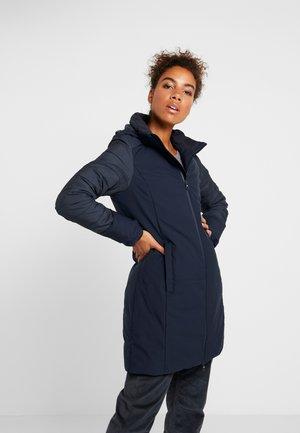 WOMAN COAT ZIP HOOD - Vinterkåpe / -frakk - black blue