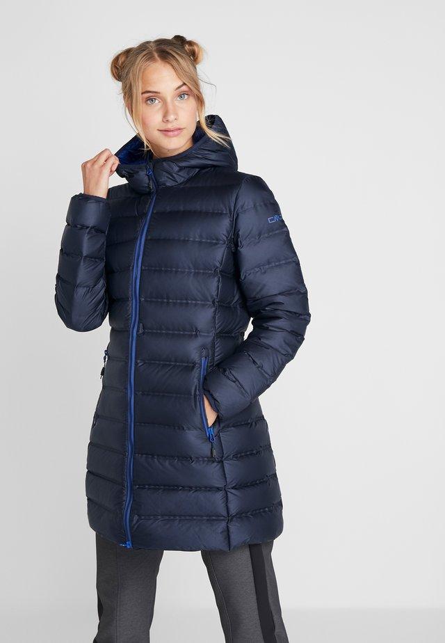 WOMAN FIX HOOD - Kabát zprachového peří - black blue