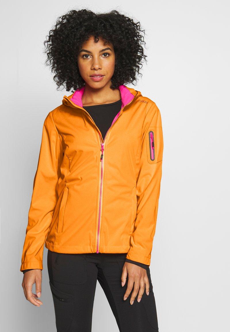 CMP - WOMAN JACKET ZIP HOOD - Soft shell jacket - solarium
