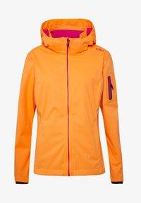 CMP - WOMAN JACKET ZIP HOOD - Soft shell jacket - solarium - 4