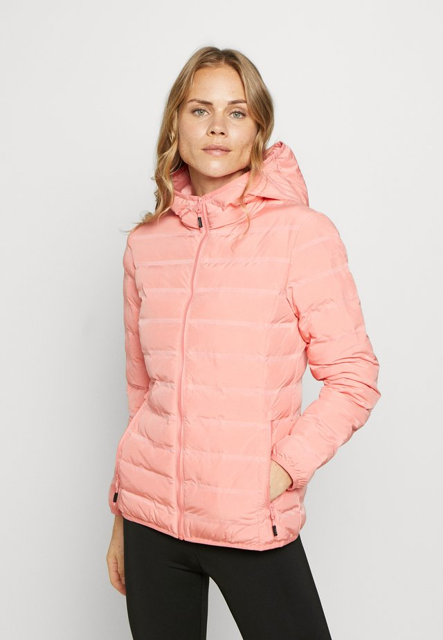 WOMAN JACKET FIX HOOD - Ulkoilutakki - flamingo