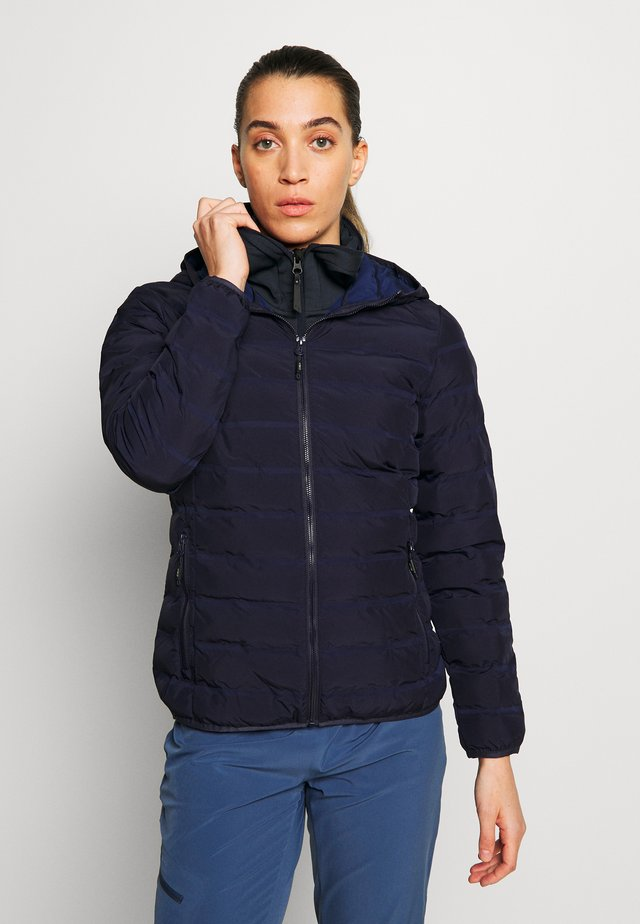WOMAN JACKET FIX HOOD - Ulkoilutakki - dark blue