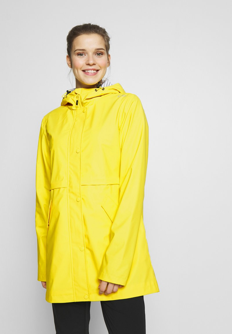 CMP - RAIN JACKET FIX HOOD - Waterproof jacket - cedro