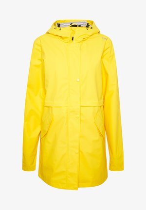 RAIN JACKET FIX HOOD - Impermeable - cedro